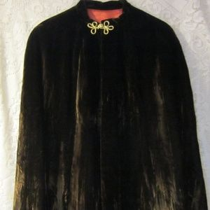 Vintage brown velvet cape  one size